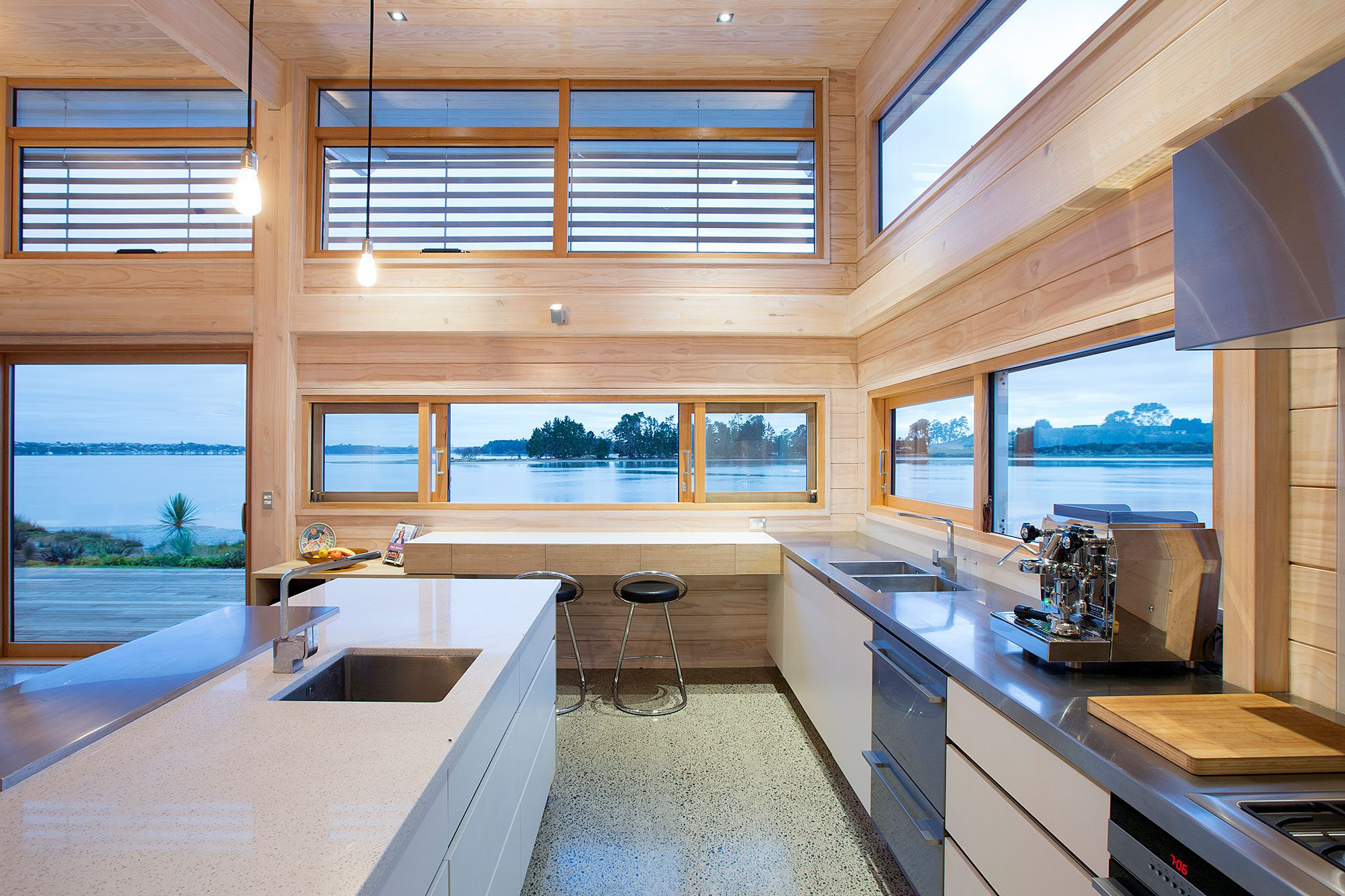Scapens River Estuary Home with Landscape Windows