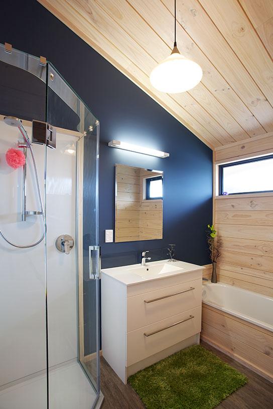 Feature Wall In Bathroom Grey Lining Lockwood Homes