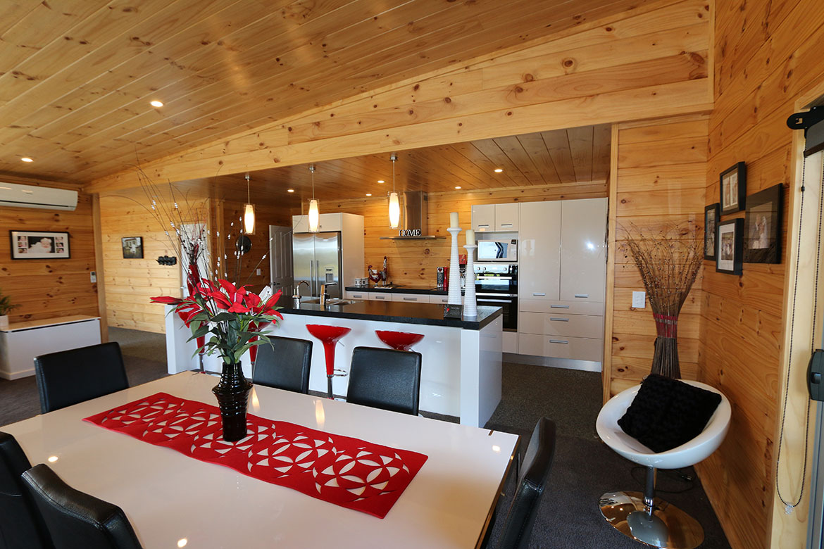 Natural Pine Interior Greymouth Home