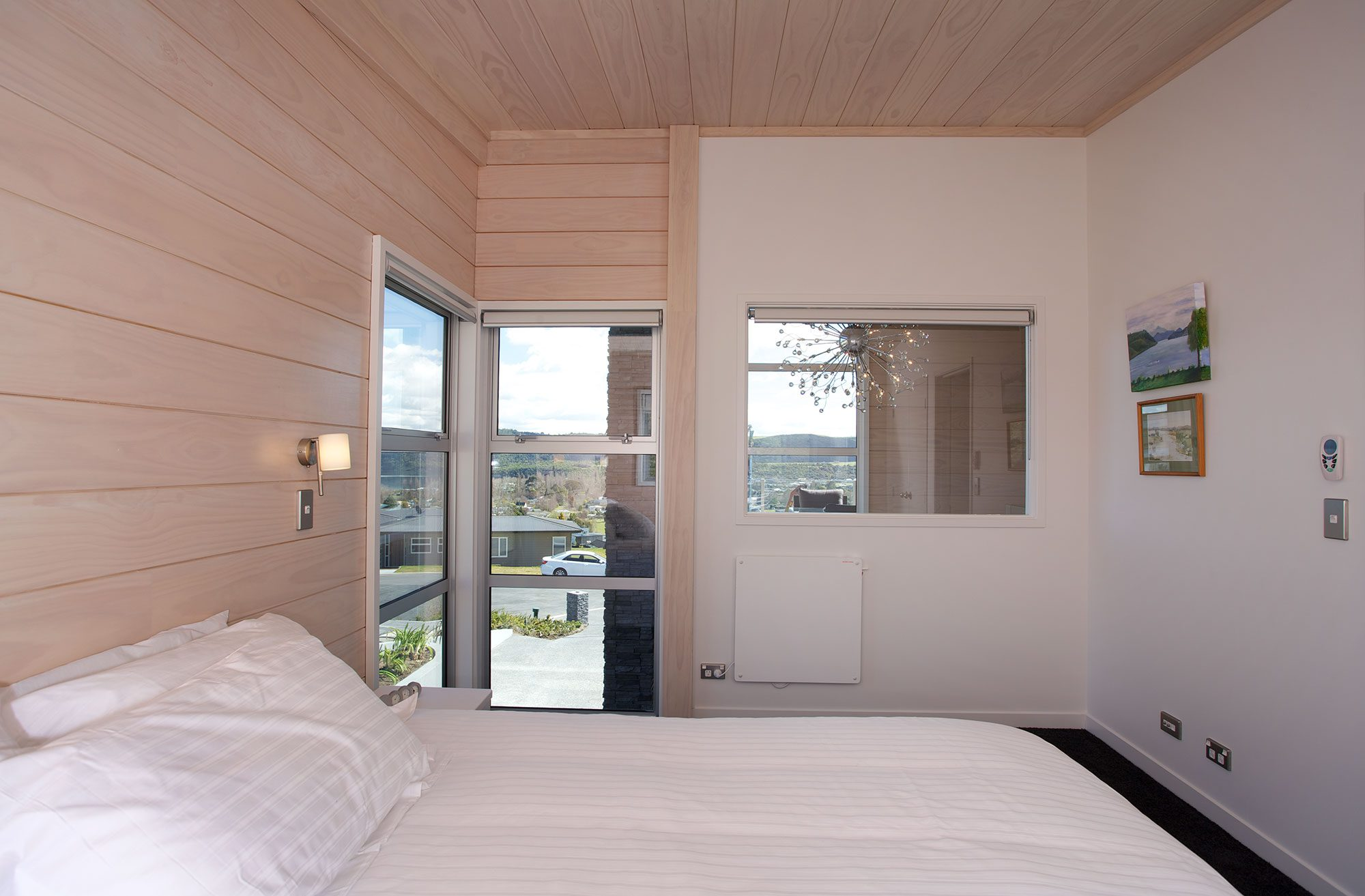 Clear Pine Interior bedroom Taupo