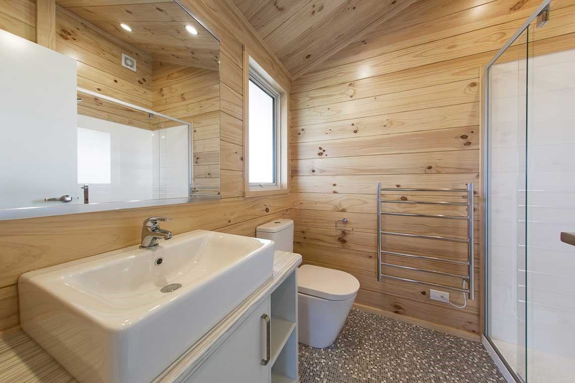 Lockwood natural finish in bathroom