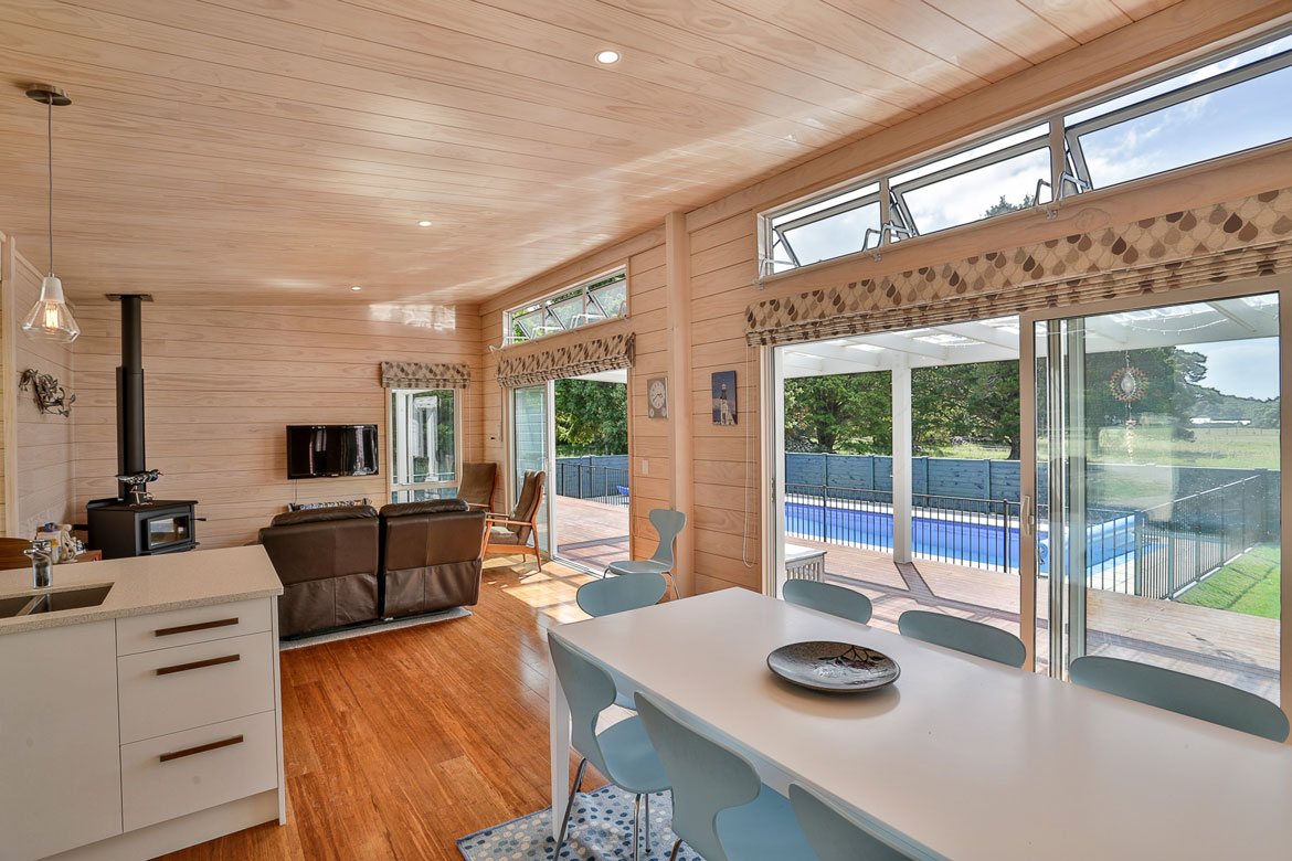 Holiday Home In Otaki Clear Pine Interior 3