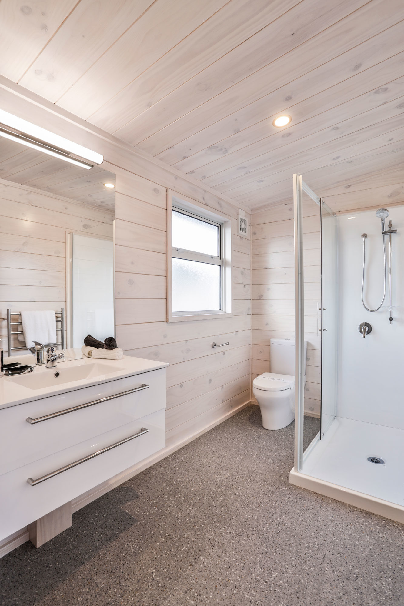 Lockwood Home Bathroom white blonded timber interior