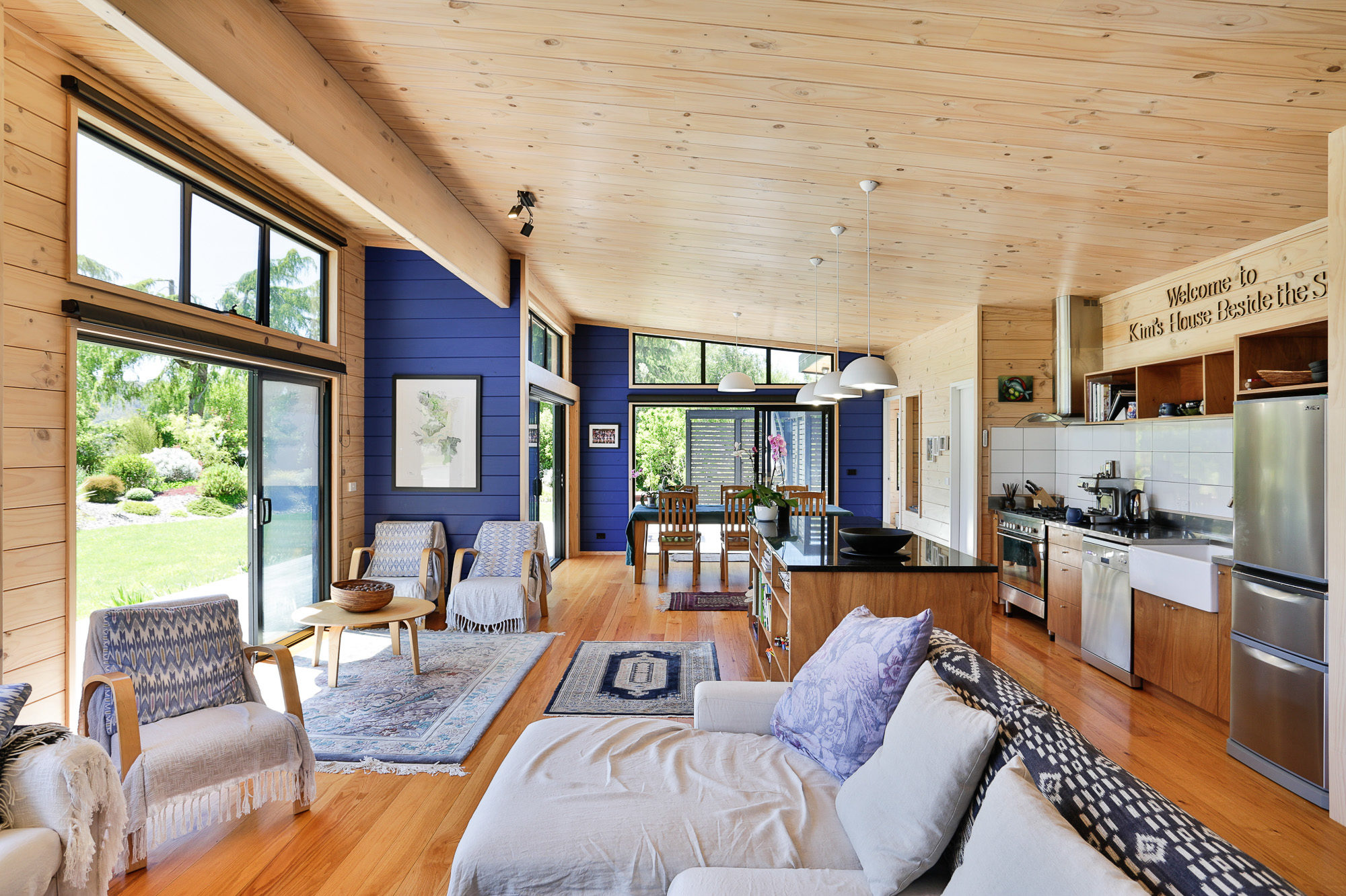 Lockwood holiday home in Nelson with painted feature walls