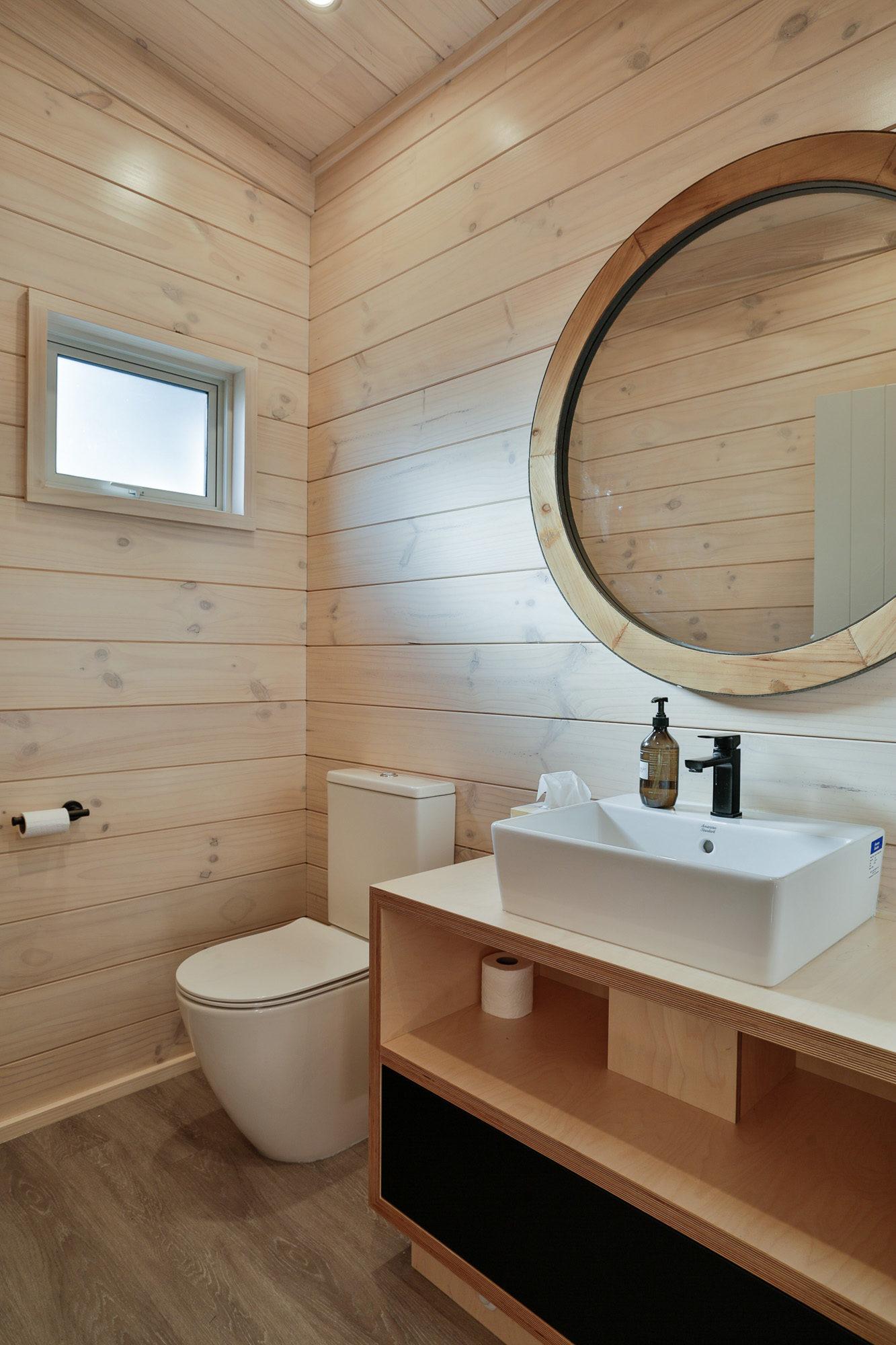 Lockwood home in the Coromandel handmade vanity with basin on top