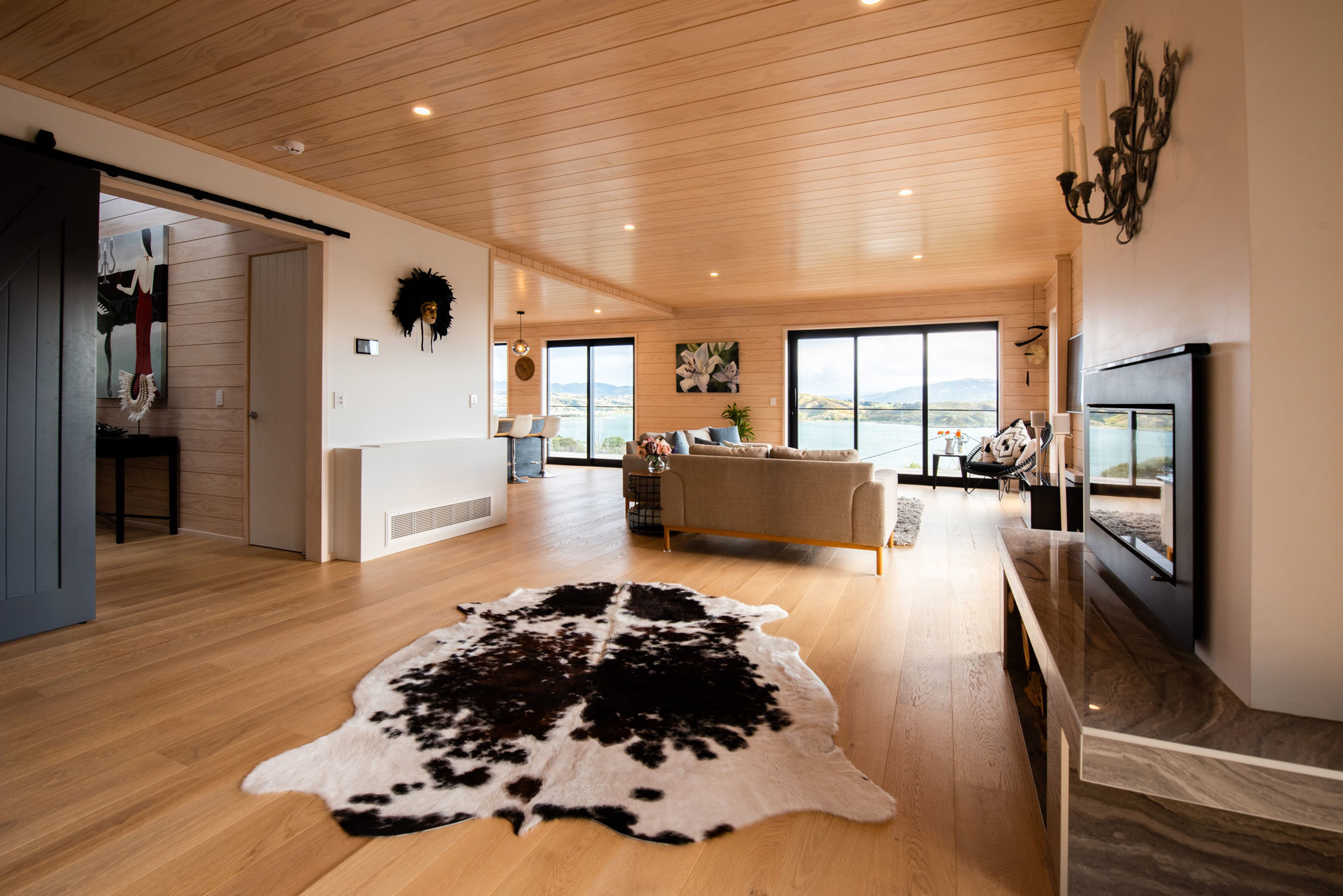Knot free pine open plan space