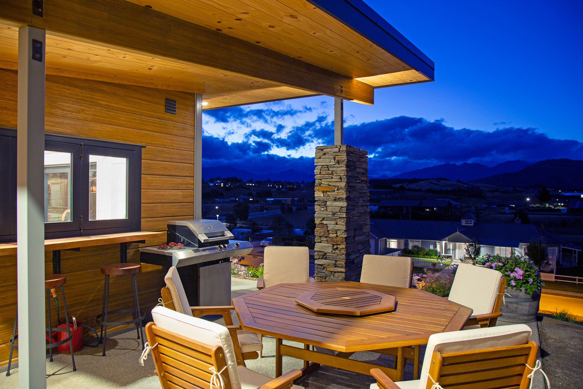 Outdoor living space with views