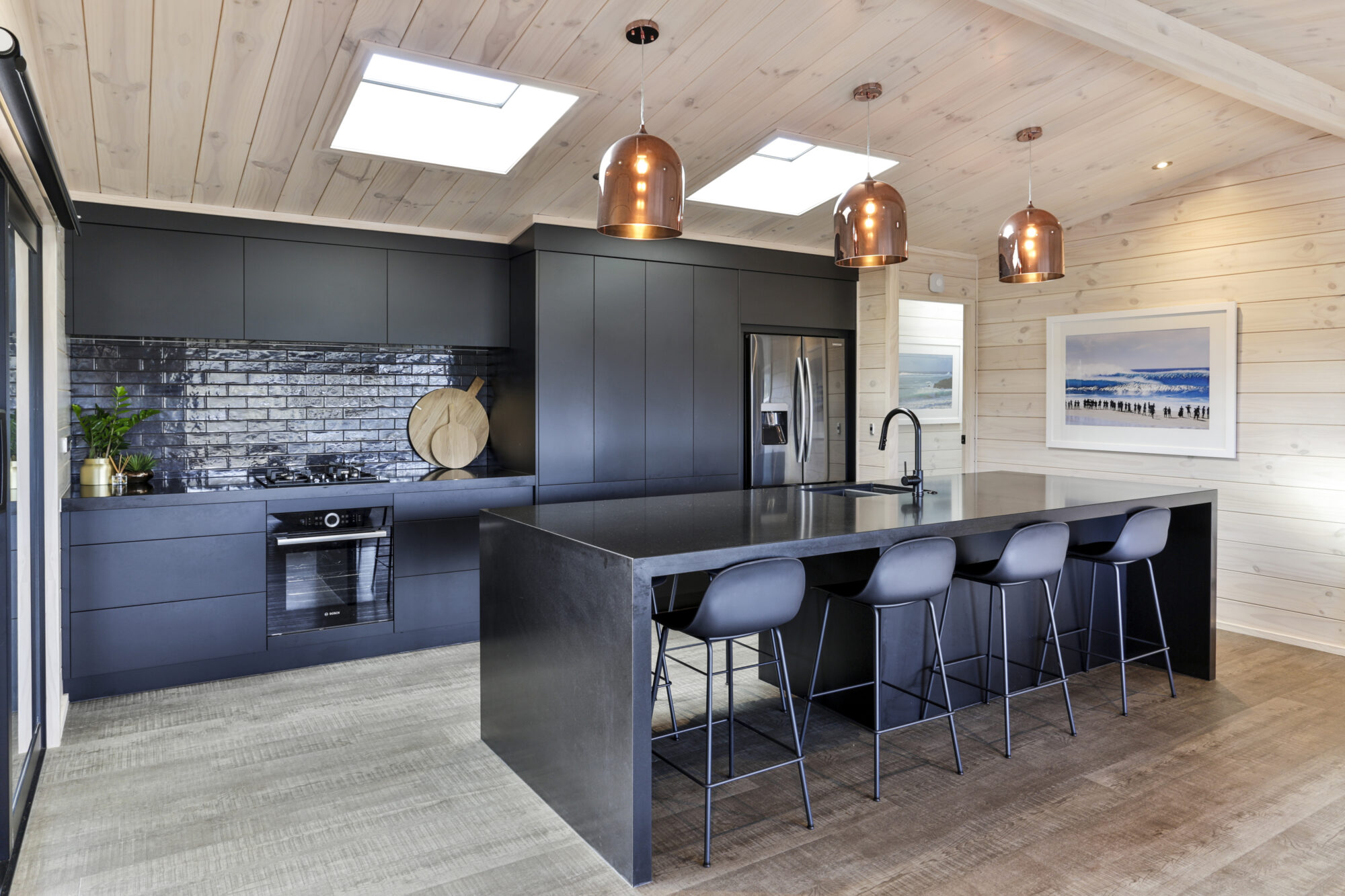 All black Lockwood kitchen