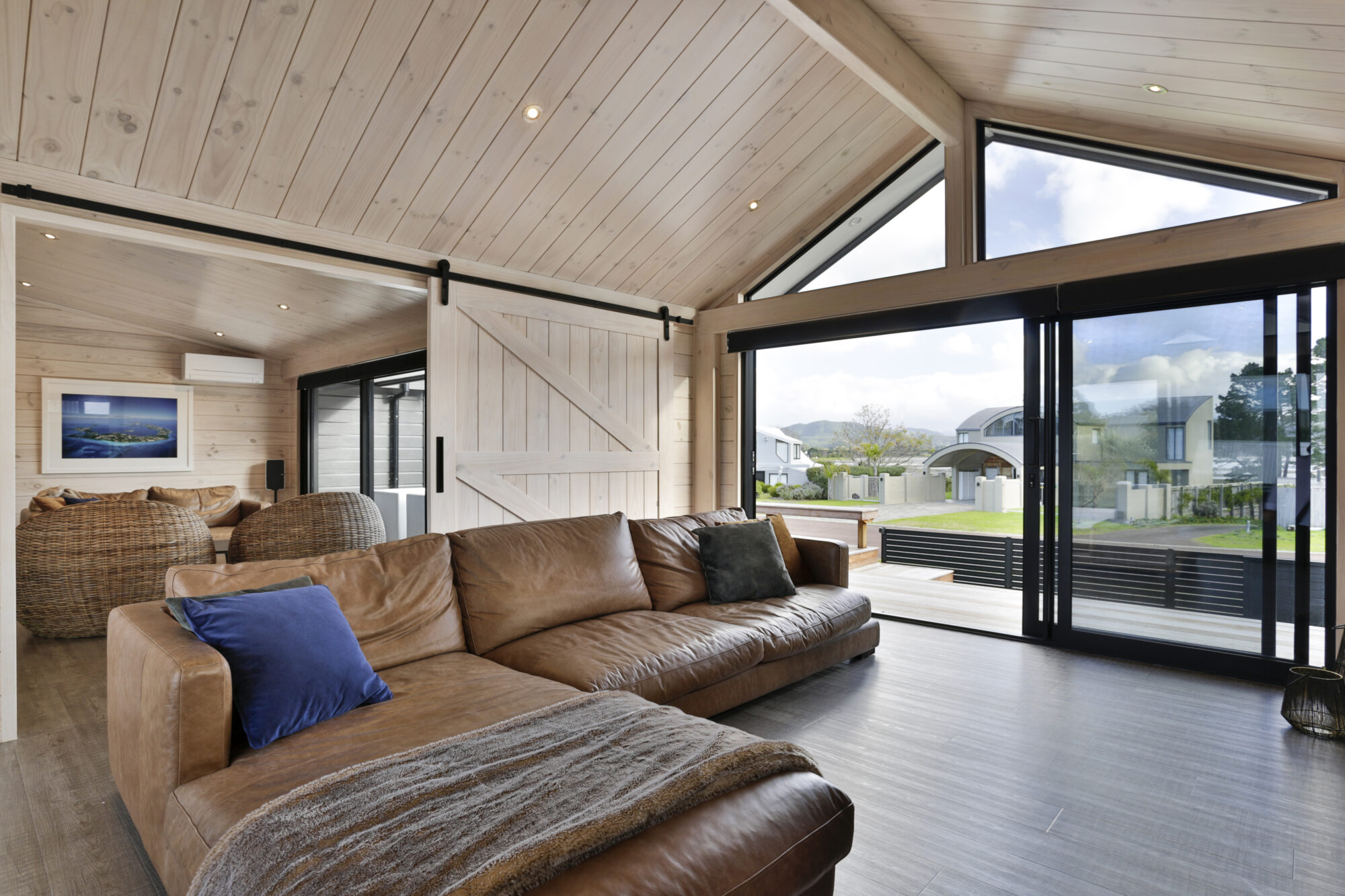 Extra natural light provided by gable end of lounge