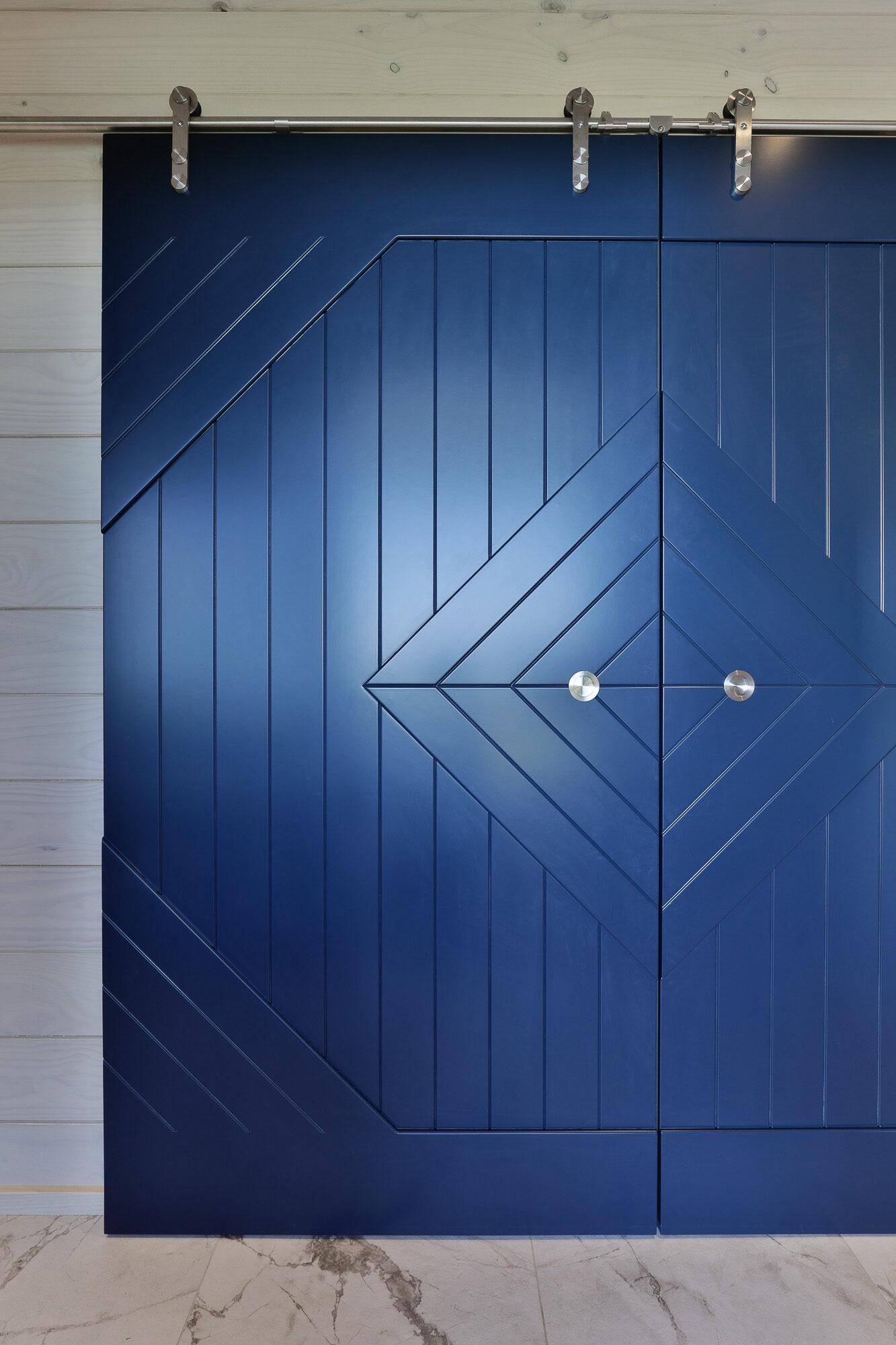 Unique door in Lockwood home