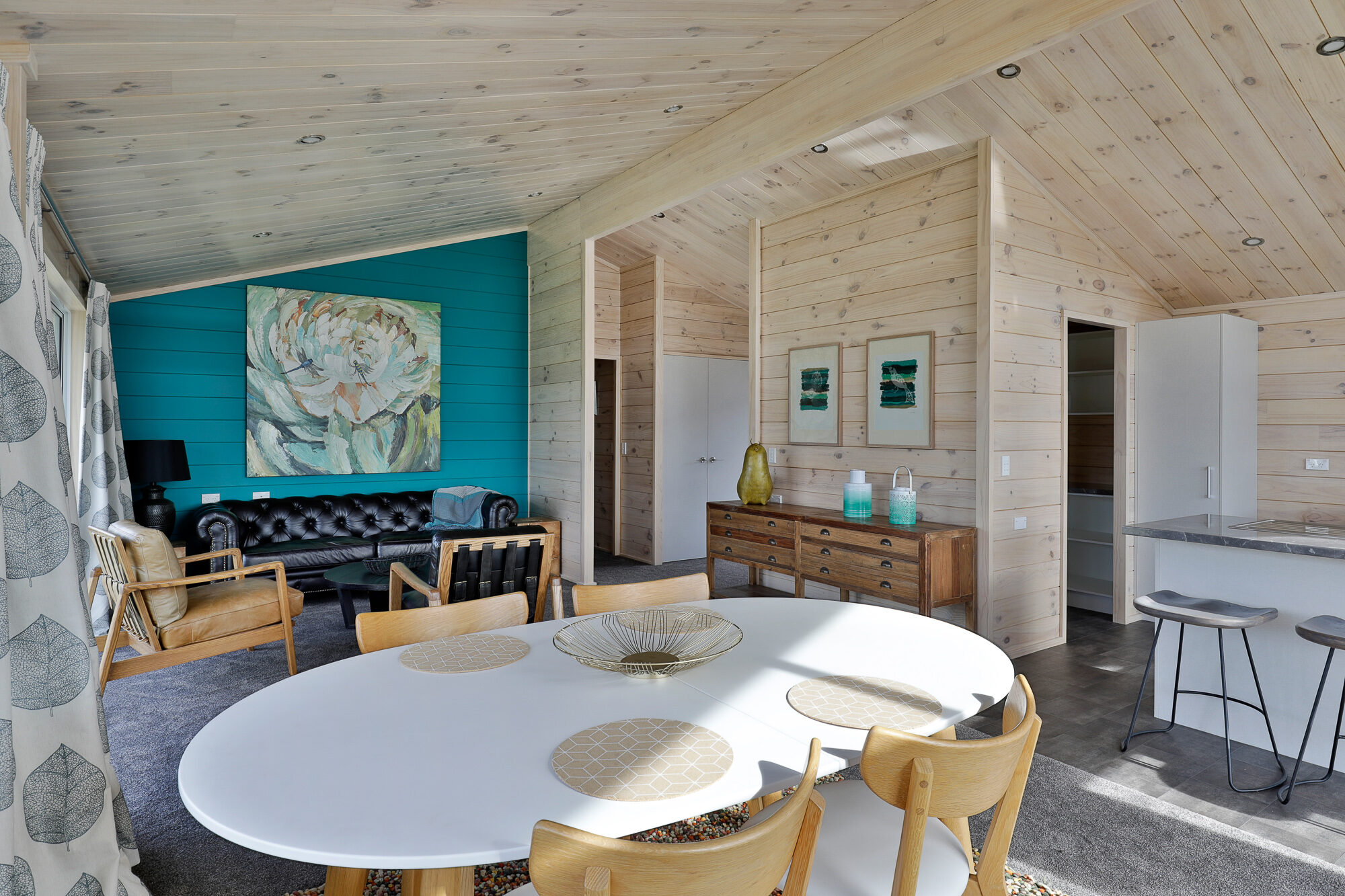 Lockwood feature wall gives pop of colour